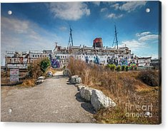 Acrylic Print featuring the photograph Duke Of Lancaster Graffiti by Adrian Evans