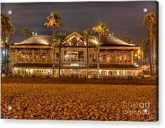Acrylic Print featuring the photograph Duke's Restaurant Huntington Beach - Back by Jim Carrell