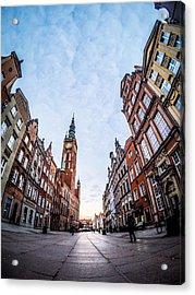 Dulga Street - Gdansk Acrylic Print by Michael Dolicke