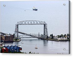 Duluth Lift Bridge On A Grey Day Acrylic Print