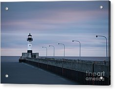 Duluth North Pier Dawn Acrylic Print by Ernesto Ruiz