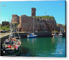 Dunbar Castle And Harbour Acrylic Print