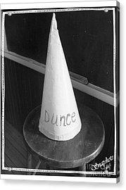 Dunce Cap Acrylic Print by Emily Kelley
