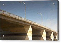 Dundas Street Bridge Acrylic Print by Michael Rutland