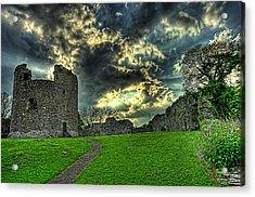 Dundrum Castle Rays Acrylic Print by Kim Shatwell-Irishphotographer