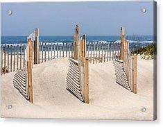 Dune Fence Landscape Acrylic Print