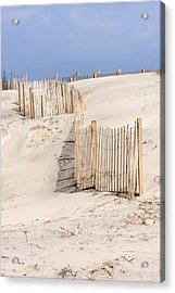 Dune Fence Portrait Acrylic Print