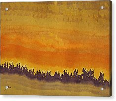 Dune Forest Original Painting Acrylic Print by Sol Luckman