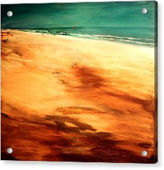 Acrylic Print featuring the painting Dune Shadows by Winsome Gunning