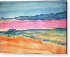 Acrylic Print featuring the painting Dunes by Ellen Levinson