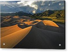Dunescape Monsoon Acrylic Print