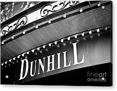 Dunhill Bw Acrylic Print