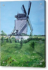 Dunkerque Windmill North Of France Acrylic Print by Francine Heykoop