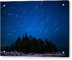 Dunks Point Star Trail Acrylic Print by Cale Best
