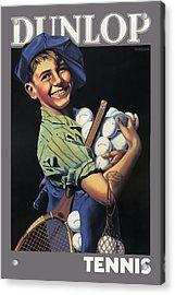 Dunlop Tennis Ball Boy  C. 1920 Acrylic Print by Daniel Hagerman
