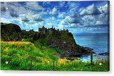 Dunluce Castle Acrylic Print by Kim Shatwell-Irishphotographer