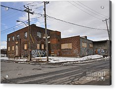 Dunn And Pitt Street Urban Exploration Acrylic Print by Reb Frost