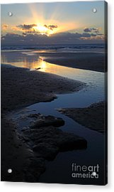 Dunraven Bay Sunset Wales Acrylic Print by James Brunker