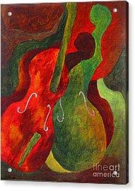 Duo Fiddles Acrylic Print