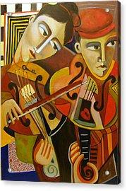 Duo Romantico Acrylic Print by Niki Sands