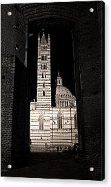 Duomo Di Siena Acrylic Print by Carl Jackson