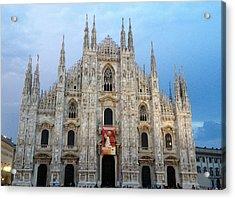 Duomo - Milan -italy Acrylic Print by Rebecca K Williams