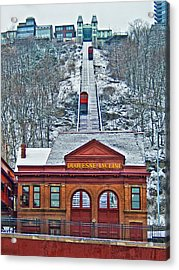 Duquesne Incline Acrylic Print by Mark Dottle