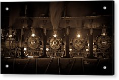 Durango Roundhouse Acrylic Print by Patrick  Flynn