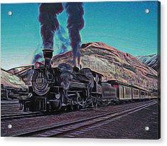 Durango Silverton Narrow Gauge Digital Art Acrylic Print