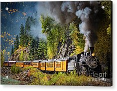 Durango-silverton Narrow Gauge Railroad Acrylic Print by Inge Johnsson