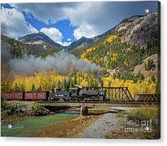 Durango-silverton Twin Bridges Acrylic Print by Inge Johnsson