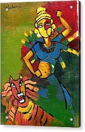 Durga Acrylic Print by Abdus Salam