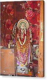 Durga At Neem Karoli Baba Ashram, Vrindavan Acrylic Print by Jennifer Mazzucco