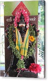 Durga At The Devi Temple, Leaving Kodaikanal Acrylic Print by Jennifer Mazzucco