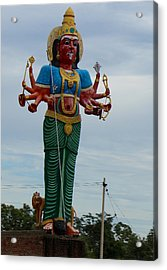 Durga On Route To Madurai Acrylic Print by Jennifer Mazzucco