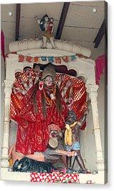 Durga On The Yamuna, Vrindavan Acrylic Print by Jennifer Mazzucco