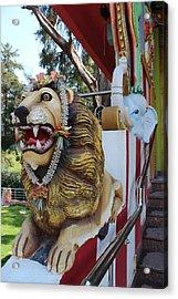 Durga's Lion Acrylic Print by Jennifer Mazzucco