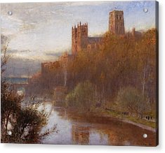 Durham Cathedral Acrylic Print by Albert Goodwin