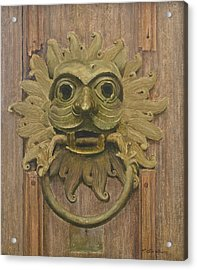 Durham Cathedral Door Knocker Acrylic Print