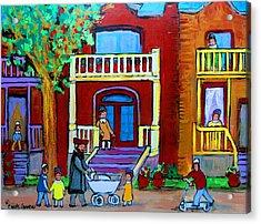 Durocher Street Montreal Acrylic Print by Carole Spandau