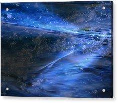 Dusk And Planets Acrylic Print