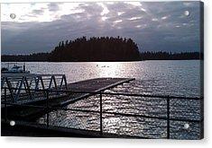 Dusk At Lakeside Acrylic Print by HP Hwang