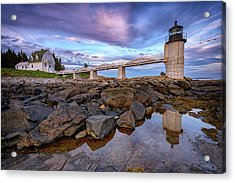 Acrylic Print featuring the photograph Dusk At Marshall Point by Rick Berk