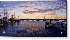 Dusk At Stonington Harbor Acrylic Print by Bruce Dumas