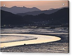 Acrylic Print featuring the photograph Dusk At Suncheon Bay by Ng Hock How