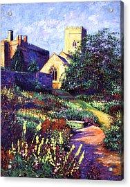 Dusk At The Abbey Acrylic Print by David Lloyd Glover