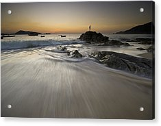 Acrylic Print featuring the photograph Dusk At The Beach by Ng Hock How