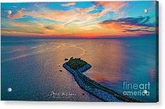 Dusk At The Knob Acrylic Print