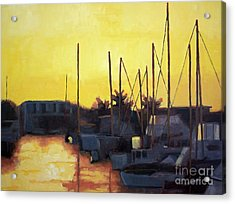 Dusk At The Marina Acrylic Print