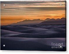 Dusk At White Sands Acrylic Print